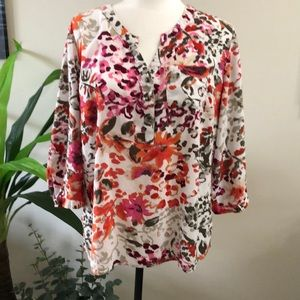 Christopher & Banks blouse size Large